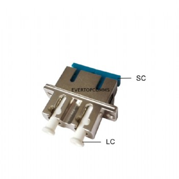 Duplex LC To SC Fiber Adapter , LC SC Adapter