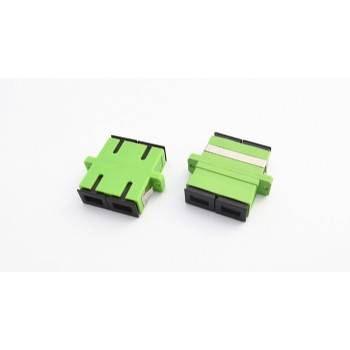 SC/APC Green Duplex Single Mode Adapter Plastic