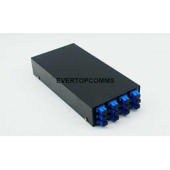Wall-mounted 12 ports mental optical fiber terminal box for telecommunication